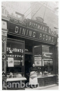 PITTMAN'S DINING ROOMS, BRIXTON NORTH