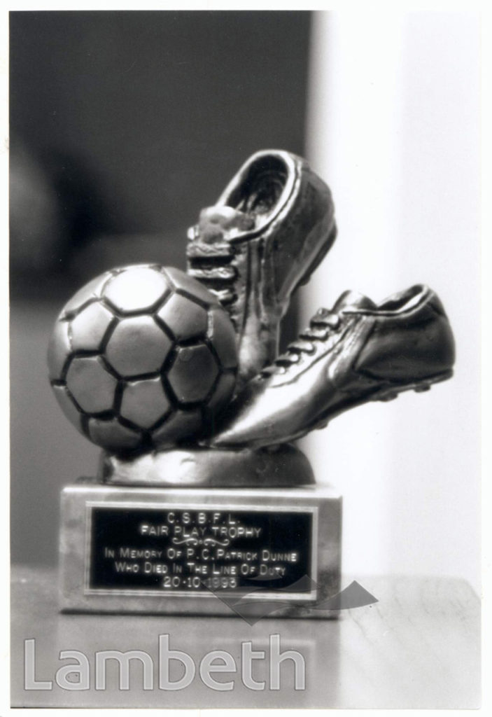 CLAPHAM FOOTBALL LEAGUE TROPHY