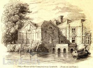 GUY FAWKE'S HOUSE, UPPER FORE STREET, LAMBETH