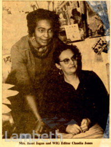CLAUDIA JONES, BLACK LEADER AND JOURNALIST