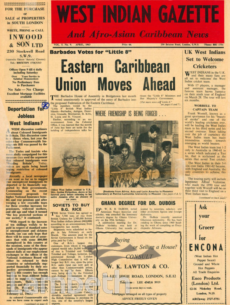 WEST INDIAN GAZETTE