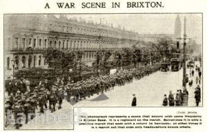 'A WAR SCENE IN BRIXTON', BRIXTON ROAD, BRIXTON CENTRAL