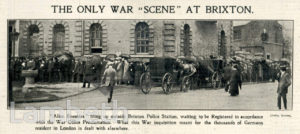 'THE ONLY WAR SCENE AT BRIXTON', BRIXTON CENTRAL