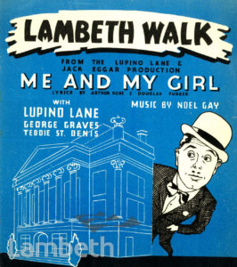 'LAMBETH WALK', SONG FROM ME AND MY GIRL: MUSIC SHEET
