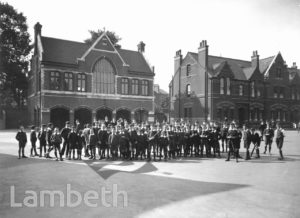 STOCKWELL ORPHANAGE: LIBRARY AND PUPILS