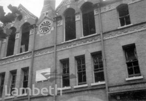 STOCKWELL ORPHANAGE: BOMB DAMAGE TO BOYS' HOUSES