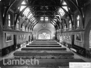STOCKWELL ORPHANAGE: MEMORIAL HALL INTERIOR