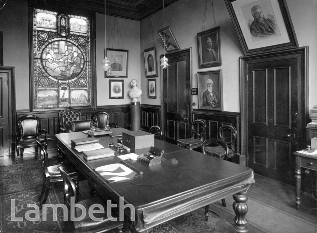 STOCKWELL ORPHANAGE: BOARD ROOM
