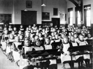 STOCKWELL ORPHANAGE: GIRLS' CLASSROOM