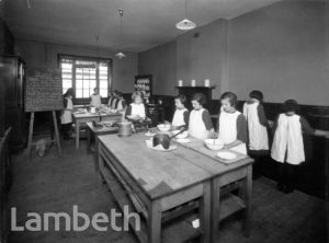 STOCKWELL ORPHANAGE: GIRLS' DOMESTIC SCIENCE CLASS