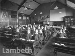STOCKWELL ORPHANAGE: BOYS' CLASSROOM