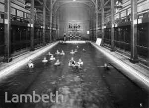 STOCKWELL ORPHANAGE: BOYS' SWIMMING POOL