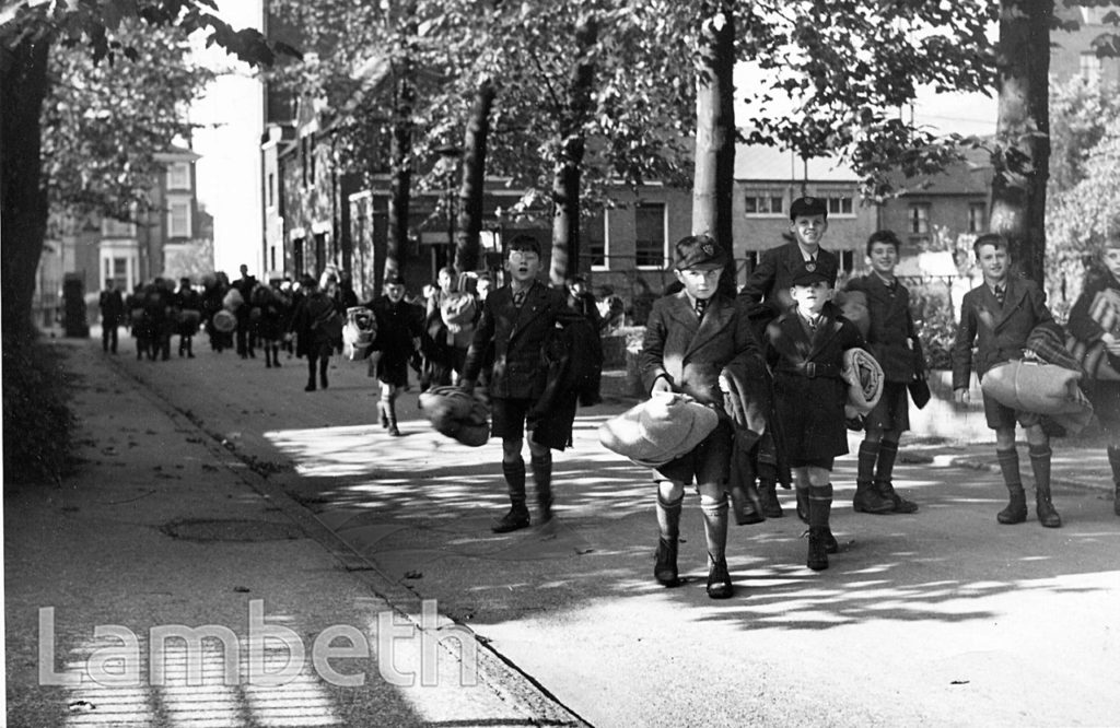 STOCKWELL ORPHANAGE: BOYS RETURNING FROM EVACUATION