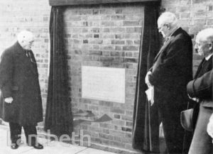 STOCKWELL ORPHANAGE: UNVEILING COMMEMORATIVE STONE