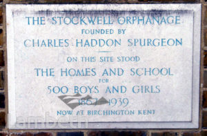 STOCKWELL ORPHANAGE: COMMEMORATIVE STONE