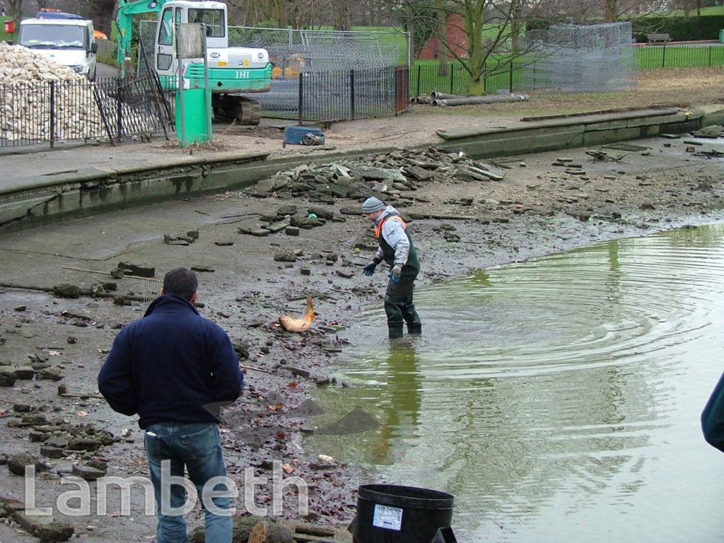 BROCKWELL PARK: RENOVATION OF THE TOP POND