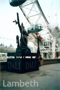DALI SCULPTURE, RIVERSIDE WALK, SOUTH BANK, WATERLOO