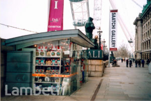 SOUVENIR SHOP, RIVERSIDE WALK, SOUTHBANK, WATERLOO