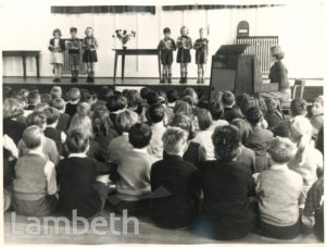 JESSOP PRIMARY SCHOOL: ASSEMBLY,  LOWDEN ROAD, HERNE HILL