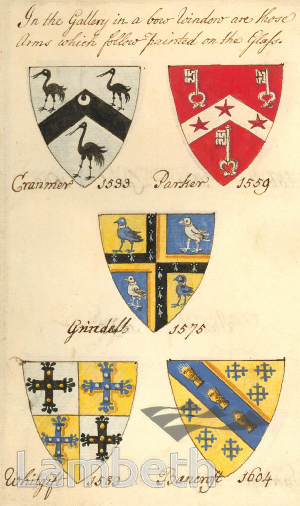 COATS OF ARMS, ST MARY'S CHURCH, LAMBETH
