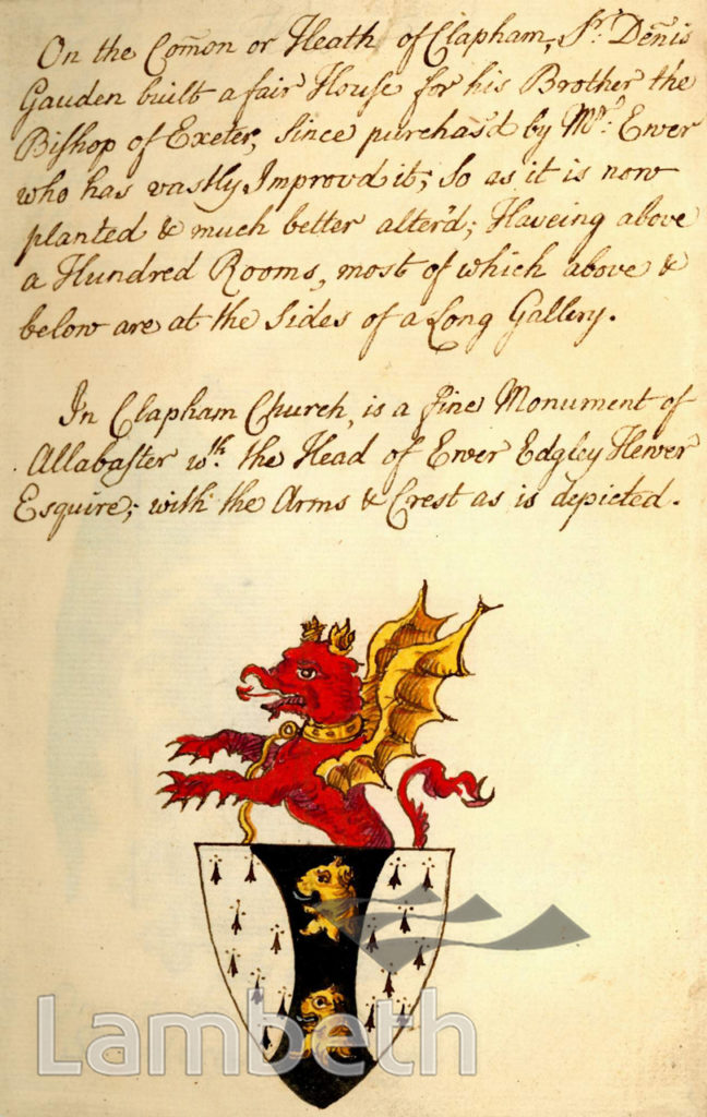 COAT OF ARMS, OLD CLAPHAM CHURCH, RECTORY GROVE, CLAPHAM