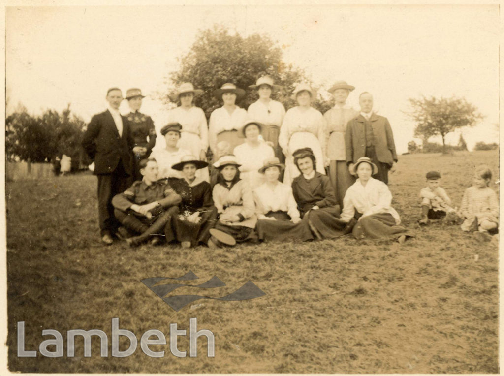 STAFF AND MEMBERS OF THE LAMBETH MISSION, LAMBETH ROAD