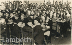 TEA PARTY, LAMBETH CHILDREN'S MISSION, LAMBETH ROAD