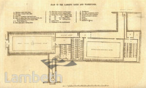 PLAN OF LAMBETH BATHS & WASHHOUSES, WESTMINSTER BRIDGE ROAD