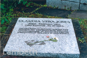 CLAUDIA JONES' GRAVE, HIGHGATE CEMETERY, LONDON