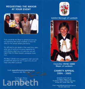 COUNCILLOR IRENE KIMM, MAYOR OF LAMBETH