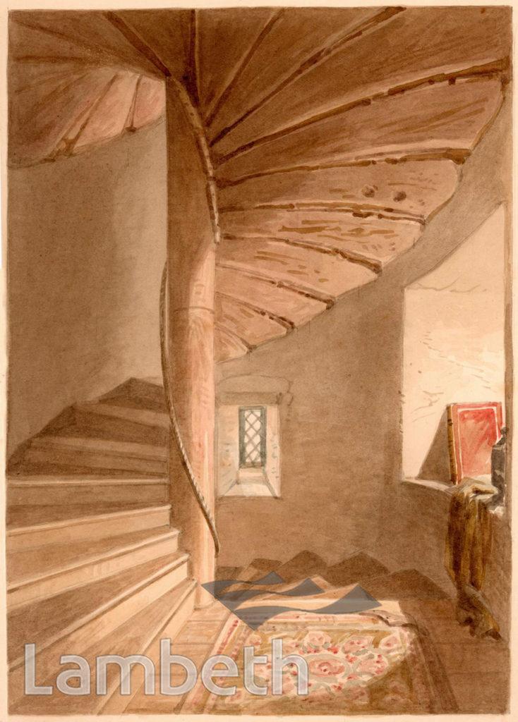 LAMBETH PALACE, STAIRS OF LOLLARDS' TOWER, LAMBETH