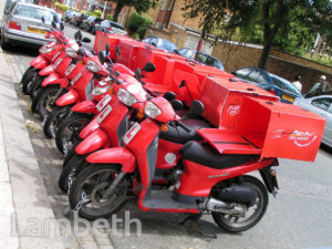 PIZZA DELIVERY SCOOTERS, ABBEVILLE ROAD, CLAPHAM PARK