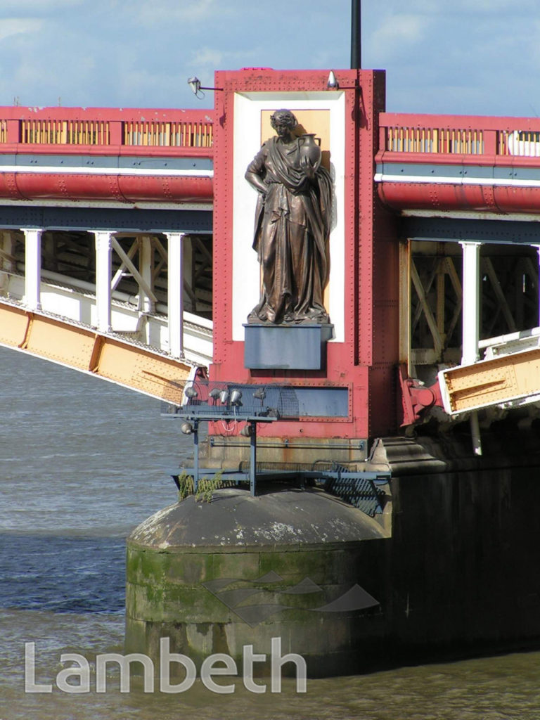 STATUE ON VAUXHALL BRIDGE, VAUXHALL