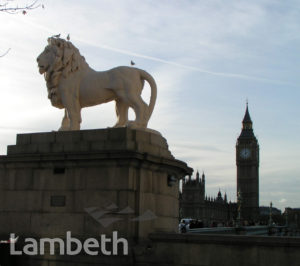 SOUTH BANK LION, WESTMINSTER BRIDGE, WATERLOO