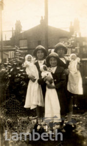 CHILDREN WITH DOLLS, HYDETHORPE ROAD, BALHAM