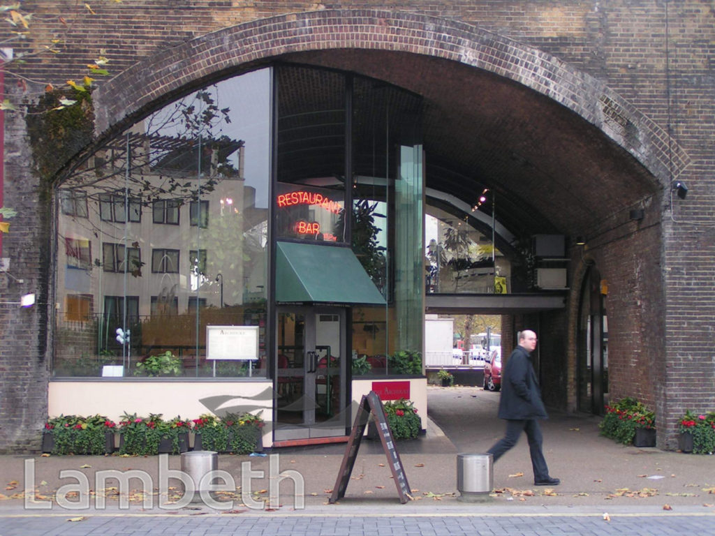 THE ARCHDUKE RESTAURANT, CONCERT HALL APPROACH, SOUTH BANK