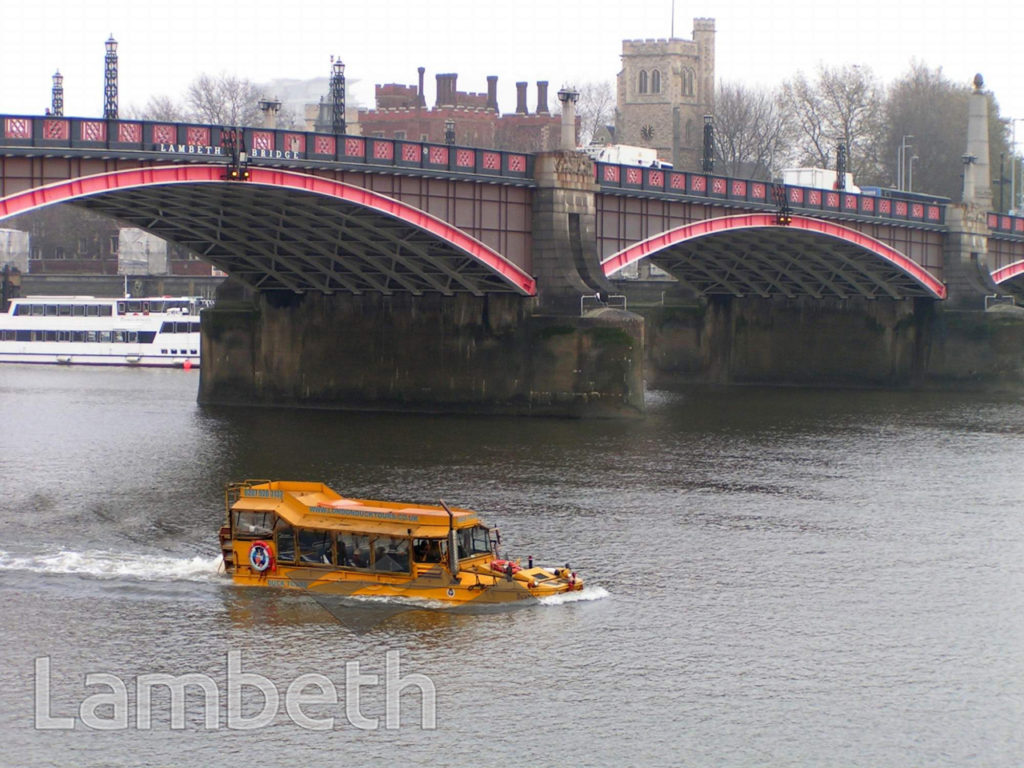 LONDON DUCK TOURS, LAMBETH BRIDGE, LAMBETH
