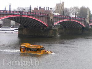 LONDON DUCK TOURS, LAMBETH BRIDGE, LAMBETH