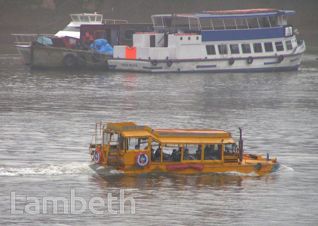 LONDON DUCK TOURS, NEAR LAMBETH BRIDGE, LAMBETH