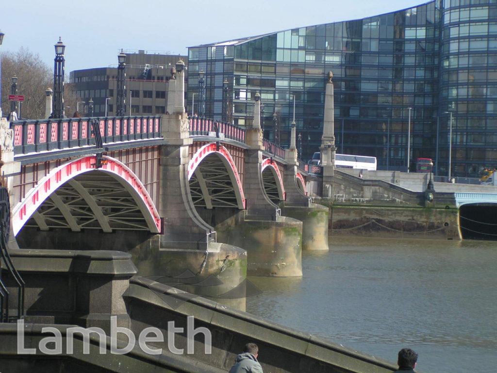 LAMBETH BRIDGE, FROM MILLBANK