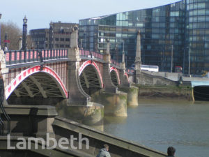 LAMBETH BRIDGE, FROM MILLBANK