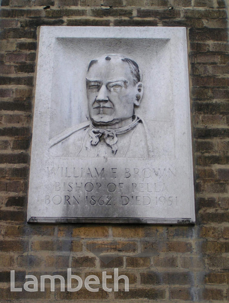BISHOP WILLIAM BROWN MEMORIAL, HARLEYFORD ROAD, VAUXHALL