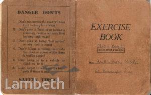 MENU BOOK, CASH & CARRY KITCHEN, KENNINGTON: WORLD WAR II