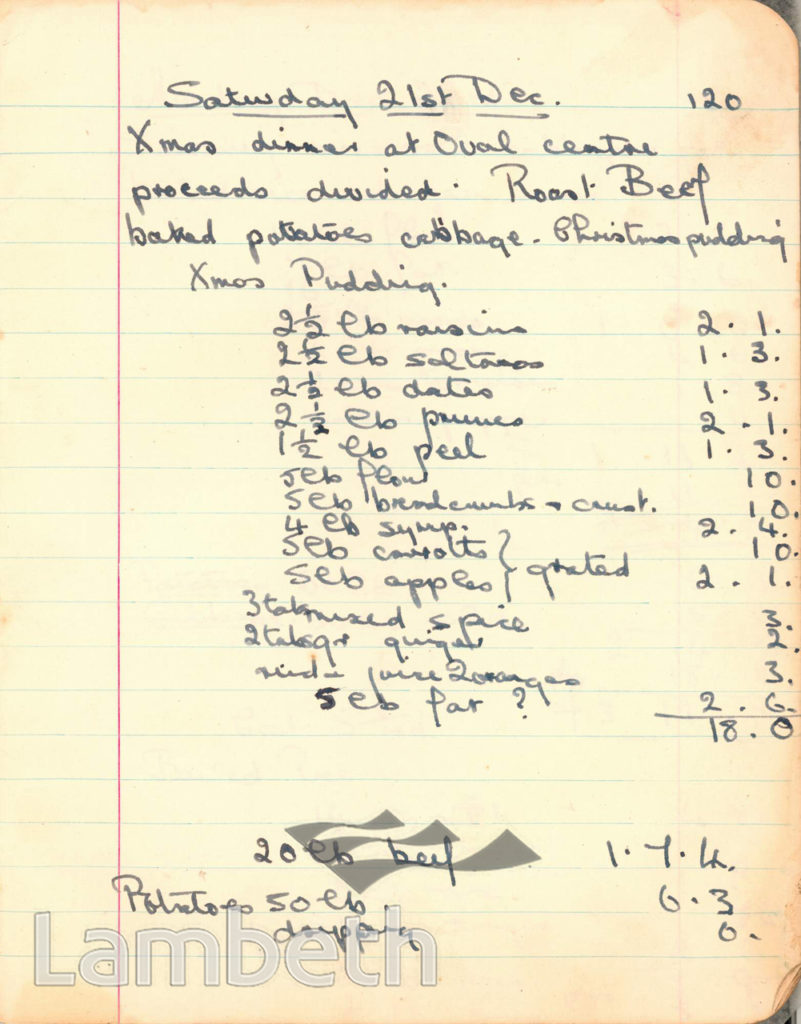 MENU, CASH AND CARRY KITCHEN, OVAL: WORLD WAR II