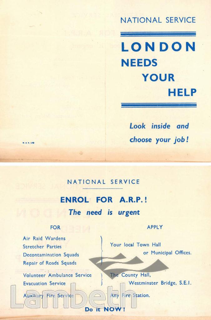 NATIONAL SERVICE LEAFLET: WORLD WAR II