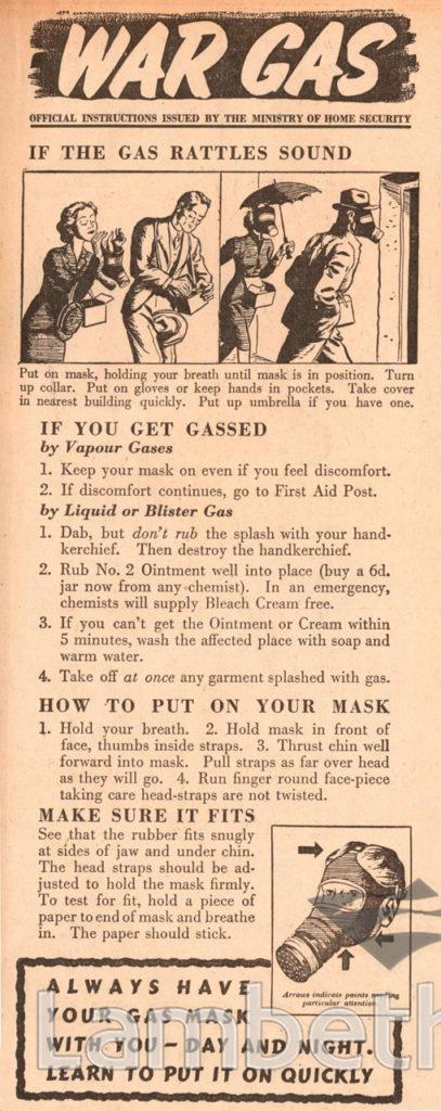 WAR GAS ADVERTISEMENT: WORLD WAR II