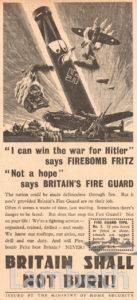 FIRE BOMBS ADVERTISEMENT: WORLD WAR II