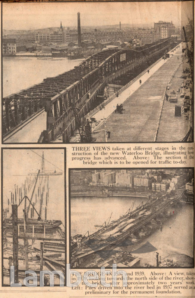 WATERLOO BRIDGE CONSTRUCTION: WORLD WAR II