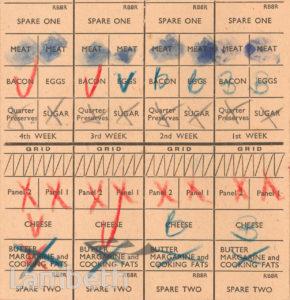 RATION CARD: WORLD WAR II