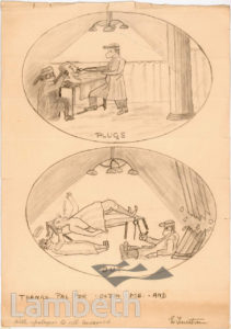 COMIC DRAWING OF OPERATION, ST THOMAS' HOSPITAL